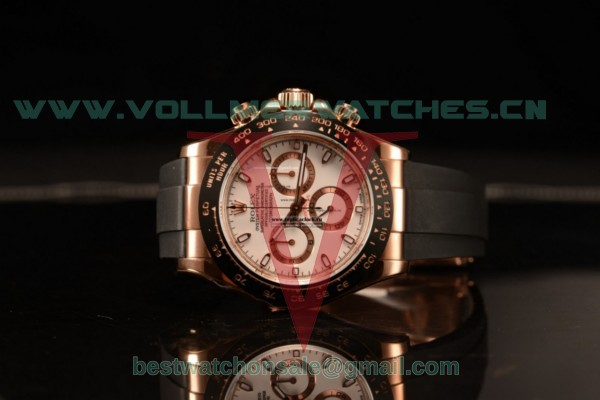 1:1 Rolex Daytona Clone Rolex 4130 Auto White Dial With Rose Gold Case 116515LN(AR)
