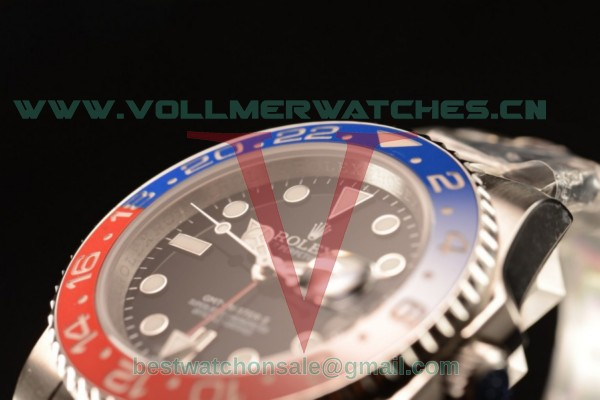 1:1 Rolex GMT-Master II Swiss ETA 2836 Auto Black Dial With Steel Case 16710