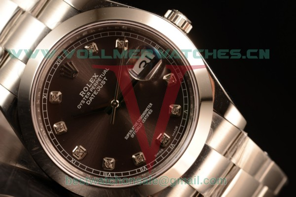 Rolex Datejust Oyster Perpetual Swiss ETA 2836 Auto Brown Dial With Steel Case 116334 ogred (BP)