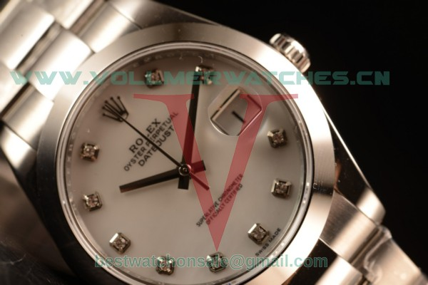 Rolex Datejust Oyster Perpetual Swiss ETA 2836 Auto White Dial With Steel Case 116334 owhid (BP)