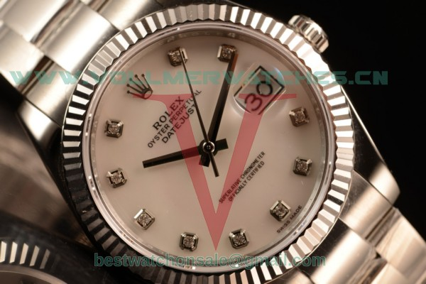 Rolex Datejust Oyster Perpetual Swiss ETA 2836 Auto White Dial With Steel Case 116334 owhids (BP)