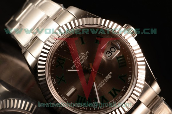 Rolex Datejust Oyster Perpetual Swiss ETA 2836 Auto Brown Dial With Steel Case 116334 ogregrs (BP)
