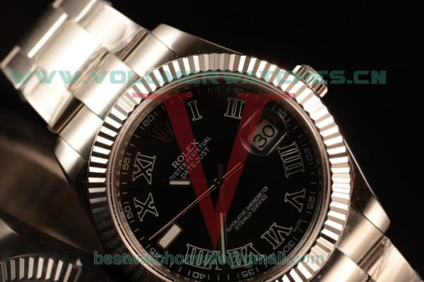 Rolex Datejust Oyster Perpetual Swiss ETA 2836 Auto Black Dial With Steel Case 116334 ogrers (BP)