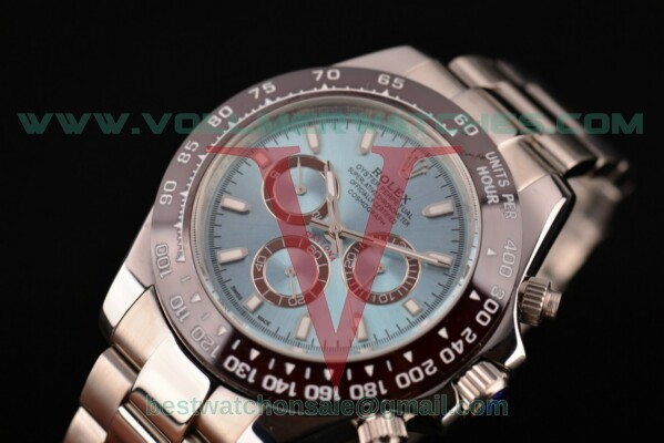 Rolex Daytona II 2813 Auto Blue Dial with Full Steel Case 116506