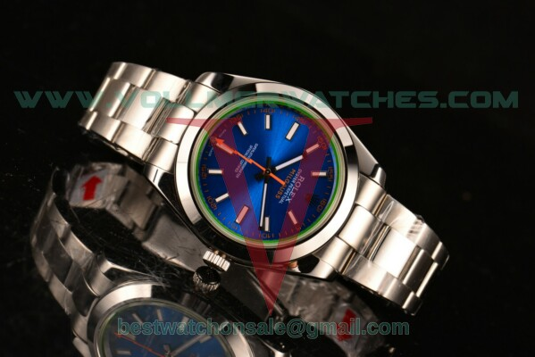 Rolex Milgauss 2813 Auto Blue Dial with Steel Case 116400 GV
