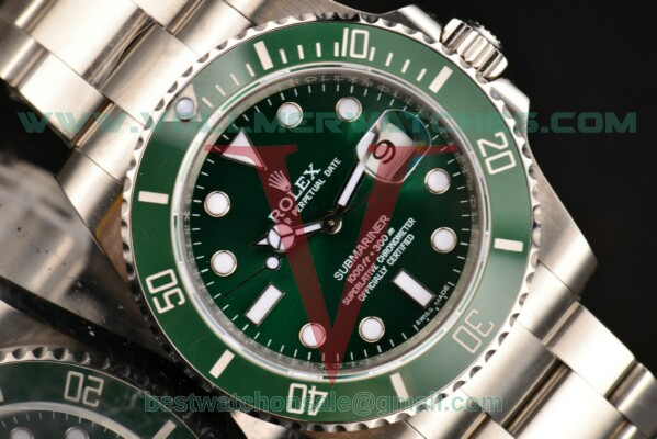 Rolex Submariner 2836 Auto Green Dial with Steel Case 116610LV