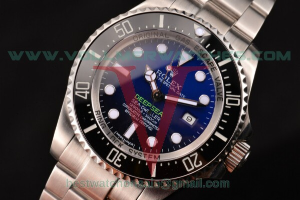 Rolex Deepsea Sea-Dweller D-Blue Edition Dive Clone Rolex 3135 Auto D-Blue Dial with Steel Case 116660 (BP)