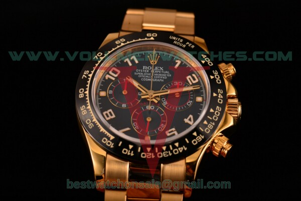Rolex Daytona Chrono 7750 Auto Blue Dial with Yellow Gold Case 116529 ba