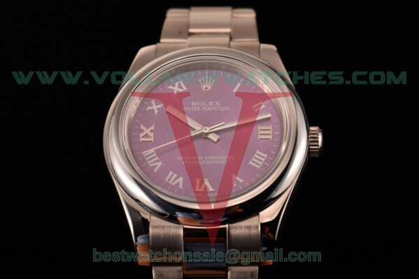 Rolex Air King 2813 Auto Purple Dial with Steel Case 114200 puro