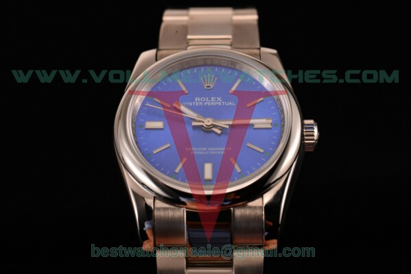 Rolex Air King 2813 Auto Blue Dial with Steel Case 114200 blso
