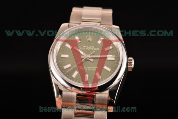 Rolex Air King 2813 Auto Army Green Dial with Steel Case 114200 greso
