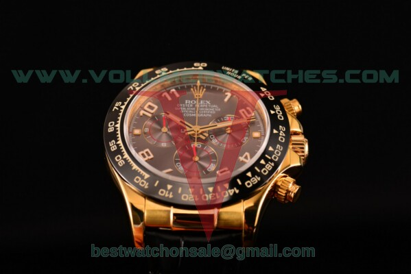 Rolex Daytona Chrono 7750 Auto Grey Dial with Yellow Gold Case 116515 LNgrea (BP)