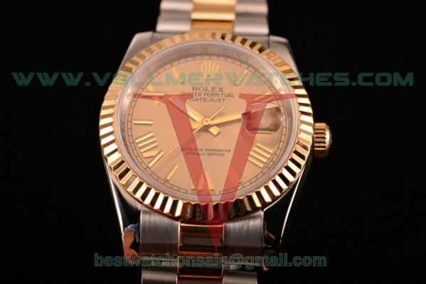 Rolex Datejust 2813 Auto Gold Dial with Two Tone Case 116233 grp