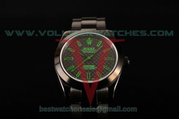 Rolex Milgauss Auto Black Dial with PVD Case 116401GV gre