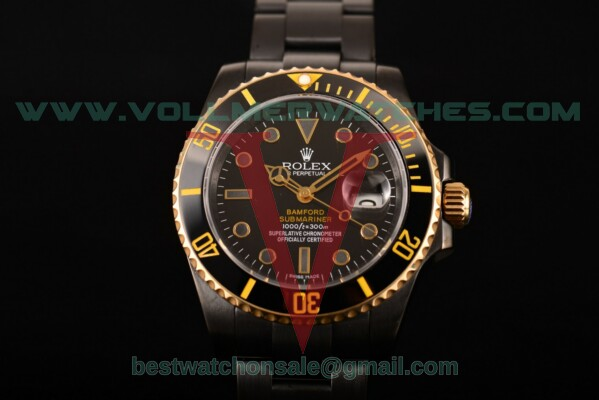 Rolex Submariner Auto Black Dial with PVD Case 116010