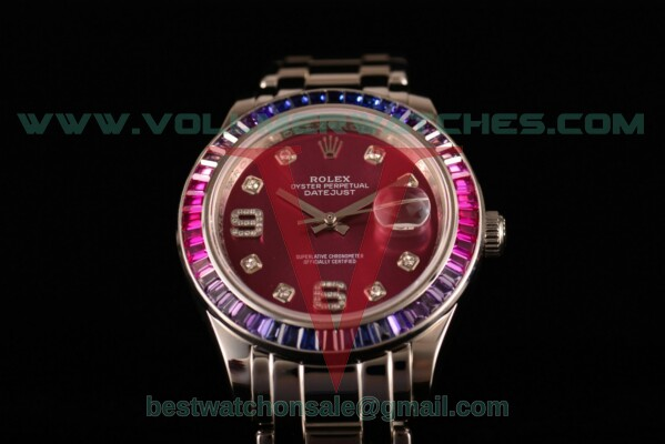 Rolex Datejust Pearlmaster 2813 Auto Purple Dial with Steel Case 80288 ppd (BP)
