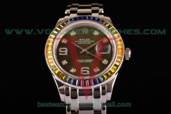 Rolex Datejust Pearlmaster 2813 Auto Army Green Dial with Steel Case 80288 pga (BP)