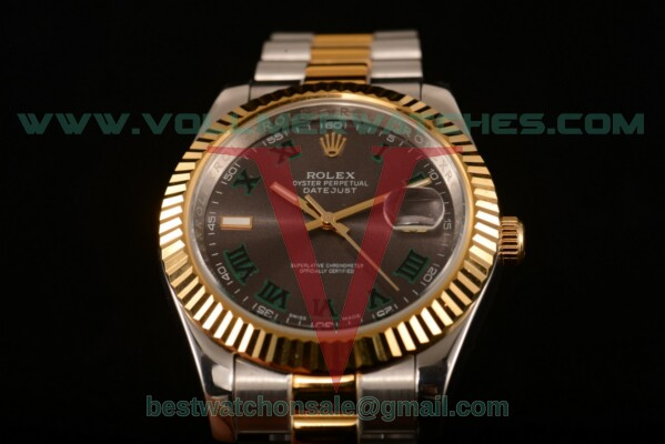 Rolex Datejust Auto Grey Dial with Two Tone Case 116233 grrp
