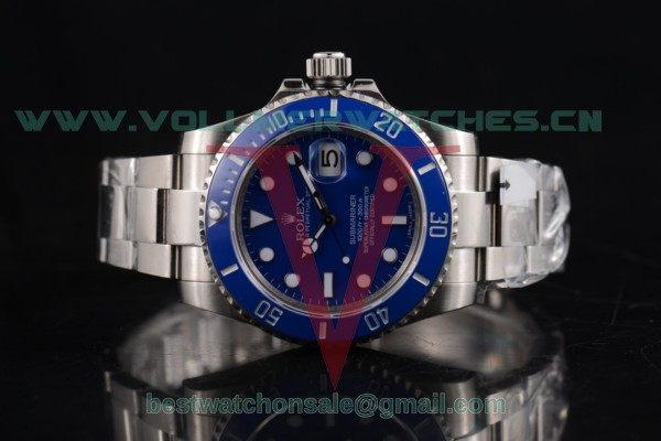 1:1 Rolex Submariner 3135 Auto Blue Dial with Steel Case 116619LB (GF)