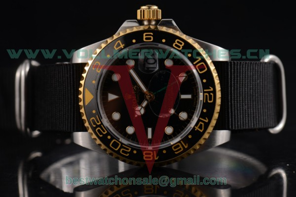 Rolex GMT-Master II 2813 Auto Black Dial with Steel Case 124785 blkn