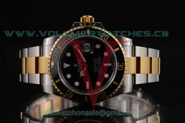 Rolex Submariner 3135 Auto Black Dial with Two Tone Case 116613LN (BP)