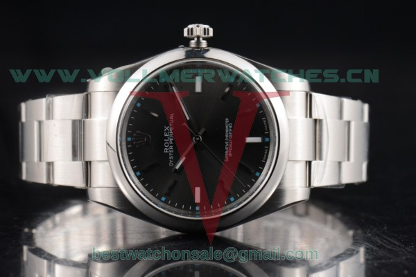 1:1 Rolex Oyster Perpetual Air King 3132 Auto Dark Rhodium Dial with Steel Case 114300-0003 (JF)