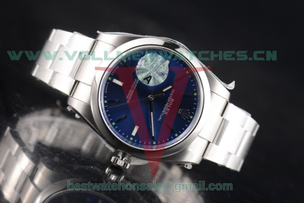 1:1 Rolex Oyster Perpetual Air King 3132 Auto Blue Rhodium Dial with Steel Case 114300-0001 (JF)