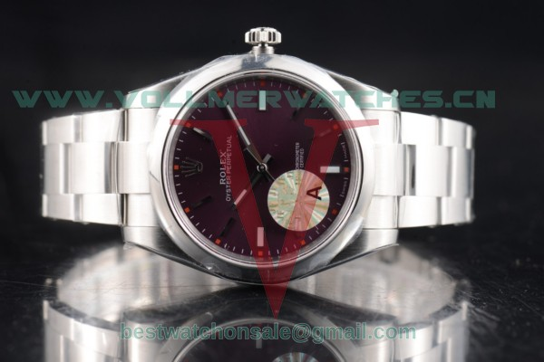 1:1 Rolex Oyster Perpetual Air King 3132 Auto Red Grape Dial with Steel Case 114300-0002 (JF)