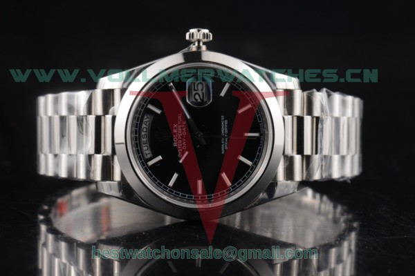 Rolex Day-Date 3255 Auto Black Dial with Steel Case 118239 blks (AAAF)