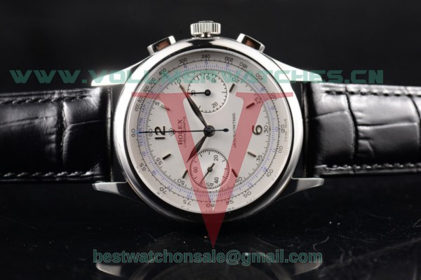 Rolex Pre Daytona Chronograph 7750 Manual Winding White Dial with Steel Case 4501(AAAF)