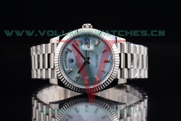 Rolex Day-Date 2836 Auto Blue Dial with Steel Case 118239 blucs (BP)