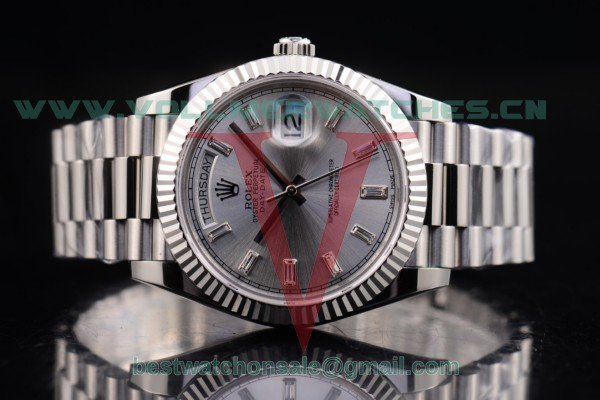 Rolex Day-Date 2836 Auto Silver Dial with Steel Case 118239 silcs (BP)