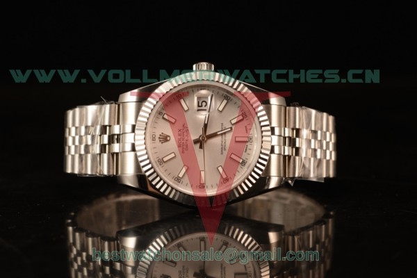 Rolex Datejust 37mm Swiss ETA 2836 Auto Sliver Dial With Steel Case 116234 whisj (BP)