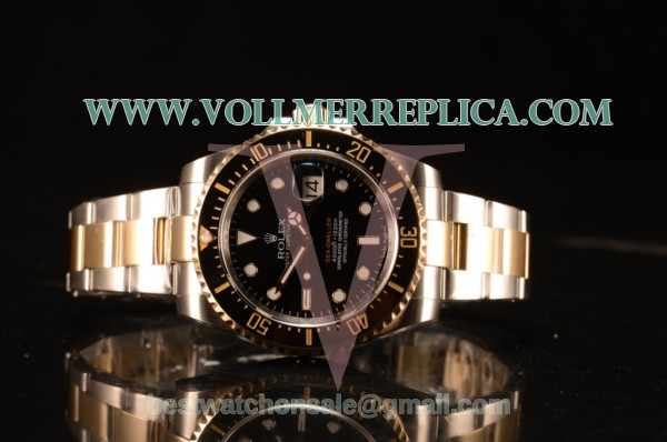Rolex Submariner Swiss ETA 2836 Automatic Black Dial With Ceramic Bezel Two Tone 116613 BK