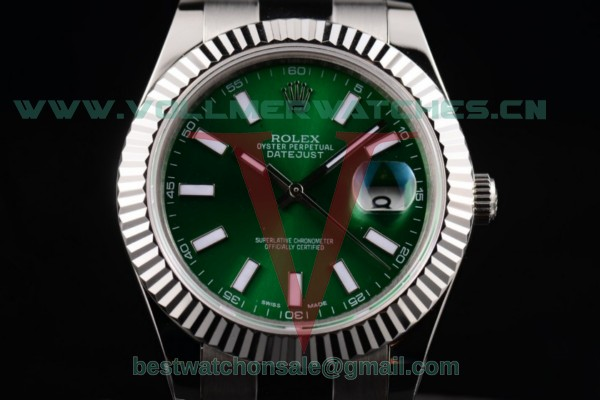 Rolex Datejust II 3135 Auto Green Dial with Steel Case 116234 greso