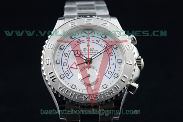 Rolex Yacht-Master II Chrono 7750 Auto White Dial with Steel Case 116689 (BP)