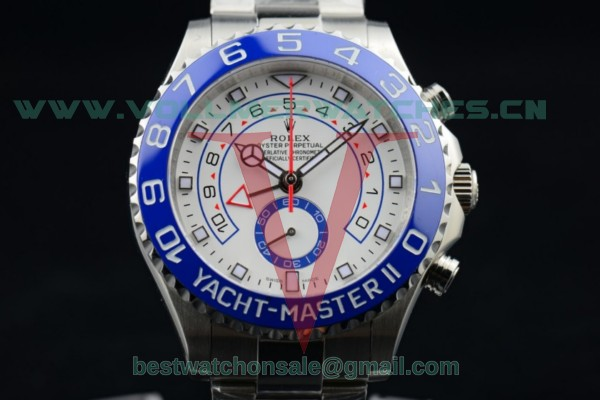 Rolex Yacht-Master II Chrono 7750 Auto White Dial with Steel Case 116680 (BP)