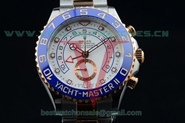 Rolex Yacht-Master II Chrono 7750 Auto White Dial with Two Tone Case 116681 (BP)