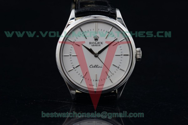 Rolex Cellini 3132 Auto White Dial with Steel Case 50509 (BP)