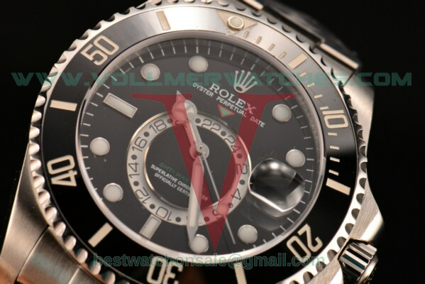 Rolex GMT Master II Superlative Chronometer 2813 With GMT Automatic Black Dial with Steel Case 116710