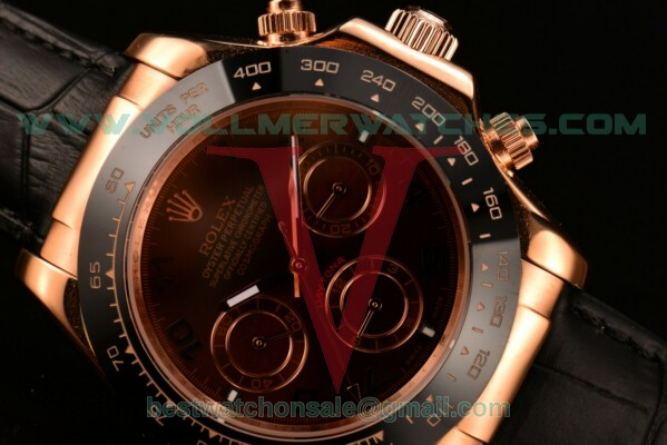 Rolex Daytona II 3836 Auto Coffee Dial With Rose Gold Case 116515LN brar