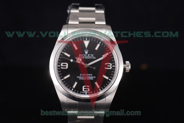 Rolex Explorer 2836 Auto Black Dial With Steel Case 14270 bk