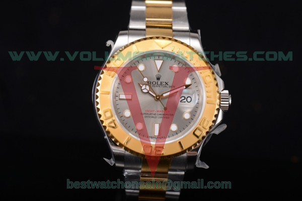 Rolex Yacht-Master 40 2836 Auto Grey Dial With Yellow Gold Case 16623 br (JF)