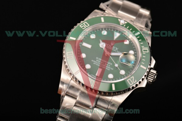 Rolex Submariner Clone Rolex 3135 Auto Green Dial With Steel Case 116610LV(NOOB)