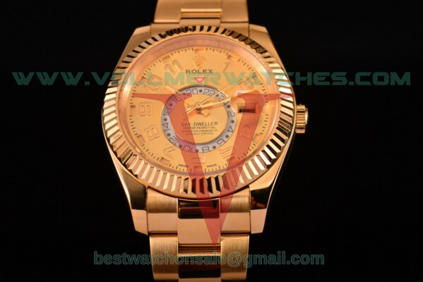 Rolex Sky-Dweller Asia Automatic Gold Dial With Yellow Gold Case 326938 yao
