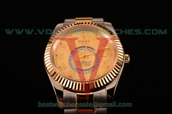 Rolex Sky-Dweller Asia Automatic Gold Dial With Yellow Gold/Steel Case 326937 yro