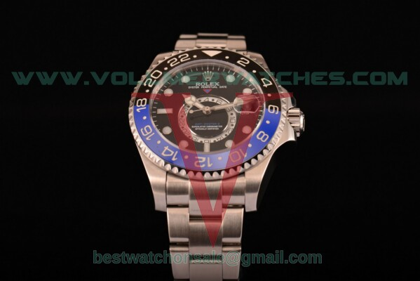 Rolex GMT-Master II Chronometer Asia Automatic Black Dial With Steel Case 116710 tbk