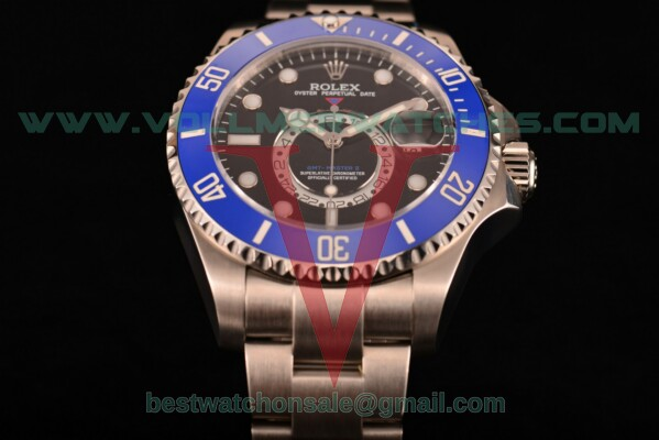 Rolex GMT-Master II Chronometer Asia Automatic Black Dial With Steel Case 116710 bl