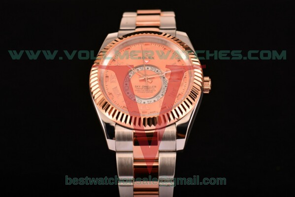Rolex Sky-Dweller Asia Automatic Brown Dial With Rose Gold/Steel Case 326940 rgro