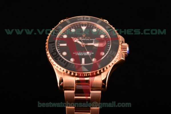 Rolex Yacht-Master Asia Automatic Black Dial With Yellow Gold Case 116555